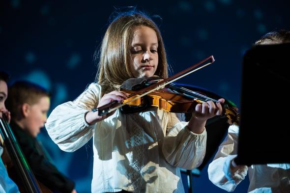 lower school strings violin concert
